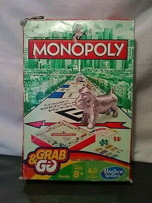 Monopoly - Hasbro Gaming Grab and Go Travel Size Game Family Board Game