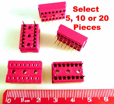 Cambion 14 Way DIL PCB Mount Standard Profile IC Socket MBE009H