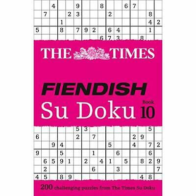 The Times Fiendish Su Doku Book 10 (Times Mind Games) - Paperback NEW The Times