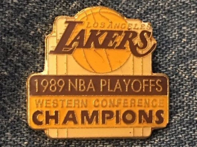 Los Angeles Lakers Pin ~ 1989 NBA Playoffs ~ Western Conference Champions