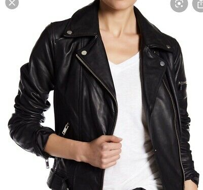 """Seven For All Mankind Leather Biker Jacket """"S"""" new with  tags!!!"""