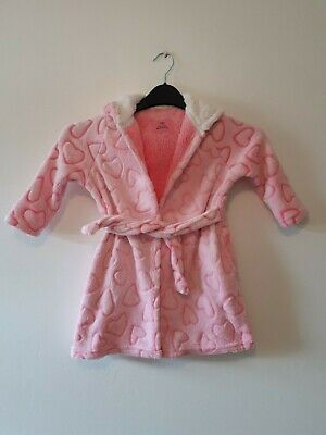 Primark Girls Pink Dressing Gown Age 3-4 Years