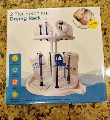 Playtex Baby 2 Tier Spinning Drying Rack For bottles nipples and caps