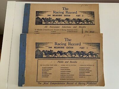 The Racing Record 1949 Edition in 2 parts