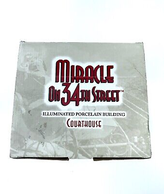 Enesco Miracle on 34th Street Illuminated Porcelain Building Courthouse
