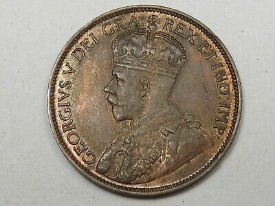 Unc 1913 Canadian Large Cent Penny (Red-Brown). CANADA.  #138
