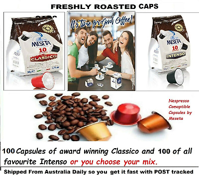 200x Nespresso Coffee Capsules Compatible Mixed pods 2 Italy Best Roast Flavor