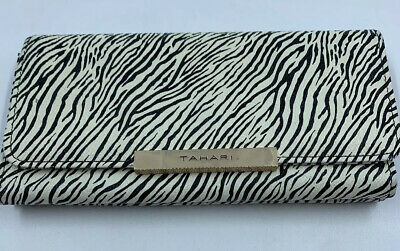 Tahari Wallet Animal Print Card Organizer Trifold Coin Fold Identity Protection