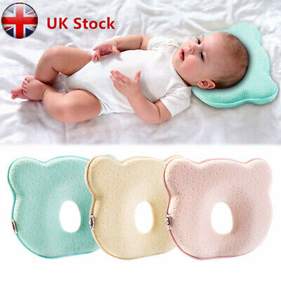 Baby Cot for Bed Neck-Support Anti Flat Head Pillow Newborn Infant Cushion UK
