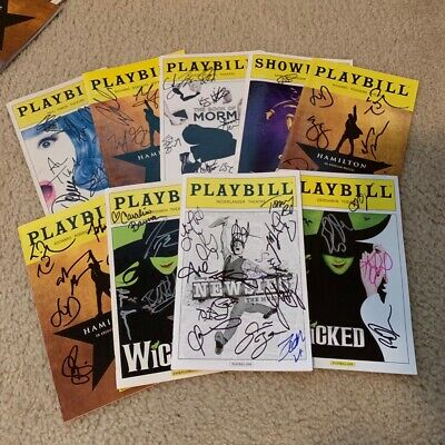 """Randomly Selected (""""Blind"""") AUTOGRAPHED/Signed Broadway Playbill NEW DESCRIPTION"""