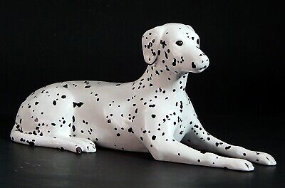 "Vintage Hand Crafted Ceramic Large 9"" DALMATIAN Dog Figurine"