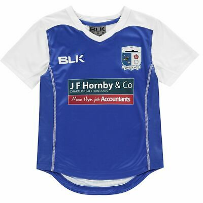 BLK Barrow AFC Away Jersey T Shirt Boys Licensed Short Sleeve Performance Tee