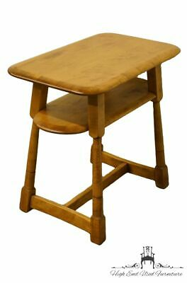 """High End Solid Hard Rock Maple Mid Century Modern 25x15"""" Accent End Table"""