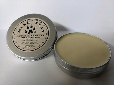 Mink Trax 100% Natural Mink Oil Leather Protector Conditioner Paste 4oz Tin