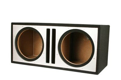 3//4-Inch MDF Twin Port Subwoofer Enclosure Absolute USA PDEB10BK Dual 10-Inch