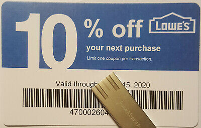 Twenty (20) LOWES Coupons 10% OFF At Competitors ONLY notAtLowes ExpNov 15 2020