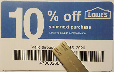 Twenty (20) LOWES Coupons 10% OFF At Competitors ONLY Not AtLowes ExpNov 15 2020