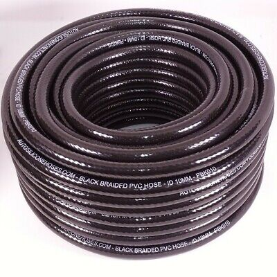 Black Braided PVC Hose Lightweight Food Oil Gas Water Reinforced Tube Pipe