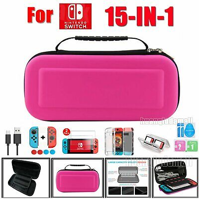 Hard Travel Case Carrying Bag for Nintendo Switch,Cover,Screen Protector,Cable