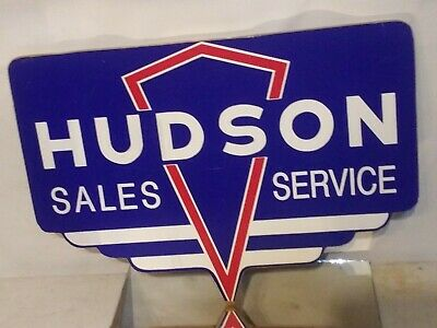 Hudson Motor Car Co Sign 17 x 12 Hornet Wasp Old Detroit Retro design Vintage