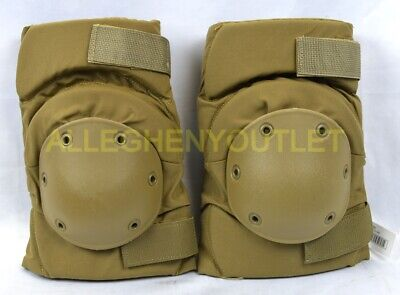 US Military USMC Tactical Protective KNEE PADS Coyote Brown Paintball S-M-L NIB