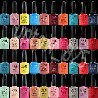 New CND Shellac UV Nail Polish Gel Colors 14 Days + CND With Boxed UK Seller