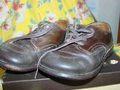 Vintage FLEET AIR Toddler Boys Girls brown SCUFF  Leather Oxford Shoes 6 1/2 EE