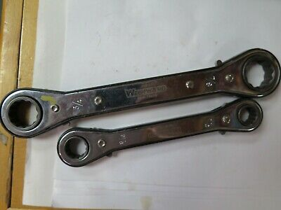 2 LOT QTY WESTWARD RBW 16X18 24X28 12pt 9/16 3/4 Ratcheting Combination Wrenches