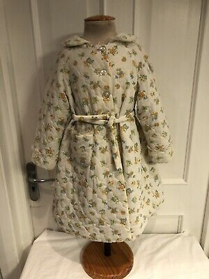 Vintage Child's Quilted Dressing Gown Age 3-4