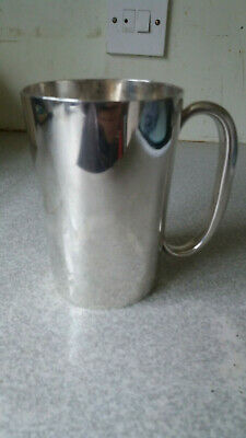 Lovely Antique Silver Plated Victorian Pint Tankard- Vr 30 - Nice Condition