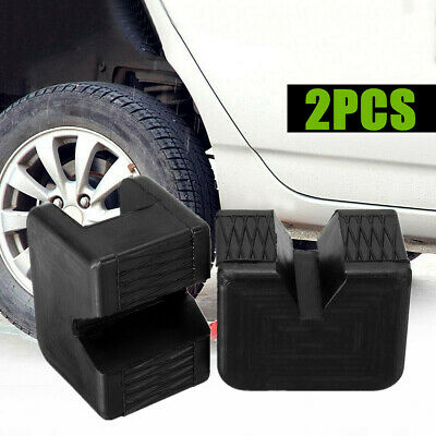 2pcs/set Auto Rubber Slotted Pad Lifting Jack Support Block Adapter Accessories