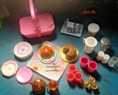Barbie 1:6 Food Kitchen Dishes Miniature Packages Straws Napkins Cutlery