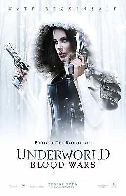 Underworld Blood Wars movie poster : 11 x 17 inches : Kate Beckinsale Poster
