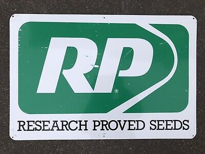 Research Proved Seeds Seed Corn Sign 24x16 Painted Metal Vintage Farm Field