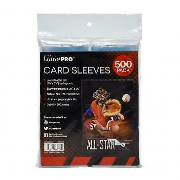 Ultra PRO - 500 Pack of Card Soft Sleeves - Regular Sized Trading & Sports Cards