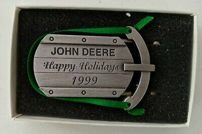 NEW 1999 John Deere Happy Holidays Christmas Ornament Collectible