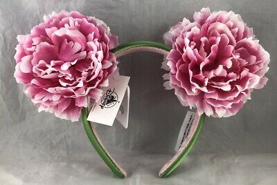 Disney Parks Flower Floral Pink Green Mouse Ears Headband Hat - NEW