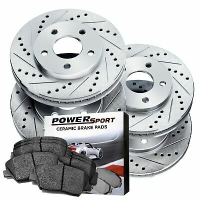 2 Front Brake Rotors POWERSPORT *DRILLED /& SLOTTED* DISC BJ10054