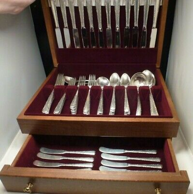 Candlelight by Towle Sterling Silver Flatware Set 12 Service 85 Pcs