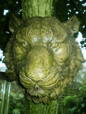 Vintage French Lion wall hanging Garden statue,water feature spout also,reclaim