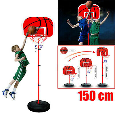 Adjustable 150cm Kids Basketball Back Board Stand Hoop Set Children Playset Gift