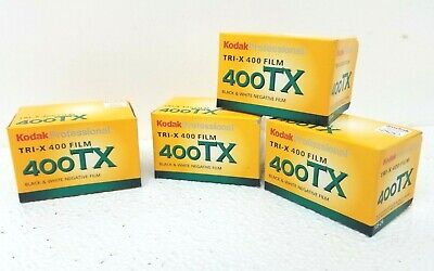 4 Rolls Kodak TX 400 135-24 Tri-X  35mm Black and White Negative Film