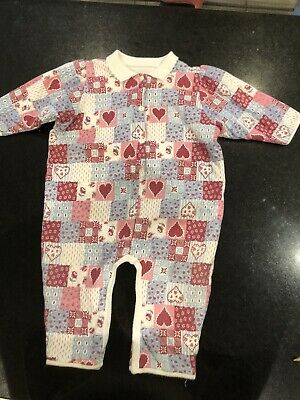 Vintage Mothercare Fleece Lined All In One Age 6-12 Months