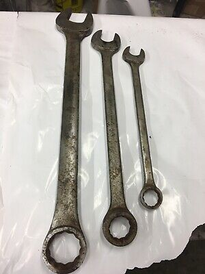 "Proto 2-3/8"" 1-3/4 1-7/16 Combination Wrench 1276 1256 1246 3pc Group Lot C 12pt"