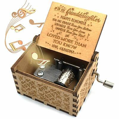 Wooden Music Box – You are My Sunshine Music Box from Grandma to Granddaughter