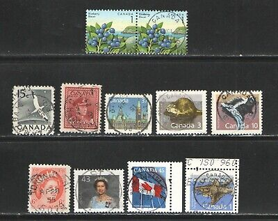 VF Collection of 10 CDS on small stamps Old + modern