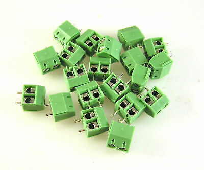 IMO 20.501M/2-SH Terminal Block PCB 2 Way Clip Fit 5mm Pitch 20 Pieces OM0958