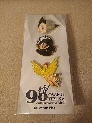 Astro Boy 3 Pin Set Anime Osamu Tezuka 90th Anniversary Of Birth NEW Loot Crate