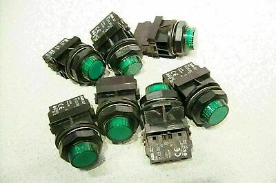 Lot of 3 ABB Panel LED Signal Indicator Lamp Green with Lamp Holder SK 616 003-A