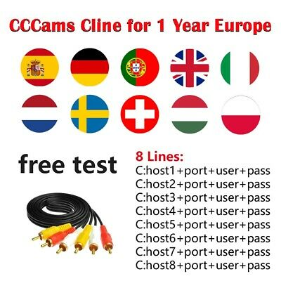 CCCams 8Lines 1 year FreesatV7 Stable HDSatellite Receiver ClineEurope Free ship